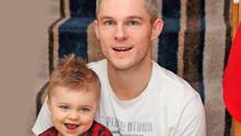 Daddy's boy: Craig McClean with his son Toby