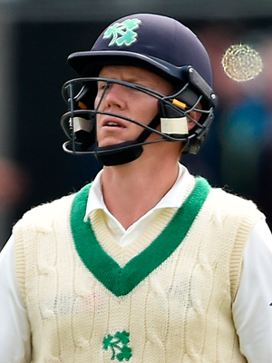 Early casualty: Kevin O'Brien couldn't add to his superb Test 118 yesterday