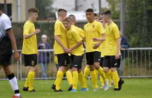 Callum Marshall netted a hat-trick for County Antrim in their opening SuperCupNI victory.