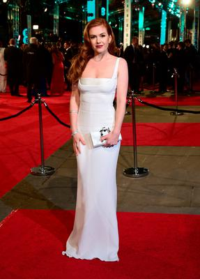 Isla Fisher attending the EE British Academy Film Awards at the Royal Opera House, Bow Street, London. Sunday February 14, 2016.  Ian West/PA Wire