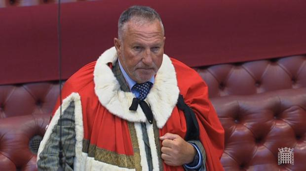 Lord Botham in the House of Lords (House of Lords/PA)
