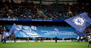 "A giant banner in memory of ex Chelsea vice chairman Matthew Harding on the 20th anniversary of his death during the Premier League match at Stamford Bridge, London. PRESS ASSOCIATION Photo. Picture date: Sunday October 23, 2016. See PA story SOCCER Chelsea. Photo credit should read: Nick Potts/PA Wire. RESTRICTIONS: EDITORIAL USE ONLY No use with unauthorised audio, video, data, fixture lists, club/league logos or ""live"" services. Online in-match use limited to 75 images, no video emulation. No use in betting, games or single club/league/player publications."