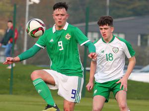On ball: Callum Ferris of the NI U21s, who won our Young Team of the Year prize