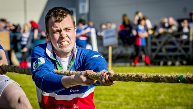 The tug of war competition during Day 2 of the Balmoral show on May 17th 2018 (Photo by Kevin Scott / Belfast Telegraph)