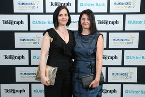 Press Eye - Belfast - Northern Ireland - 2nd May 2019 -   Rachel Gordon and Karen Pennell pictured at the Belfast Telegraph Business Awards in association with Ulster Bank at the Crowne Plaza Hotel, Belfast. Photo by Kelvin Boyes / Press Eye.