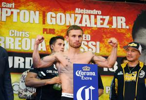 Carl Frampton weighs in in preparation for IBF Championship fight against Alejandro Gonzalez, Jr. in El Paso, Texas Picture by Jorge Salgado / Press Eye