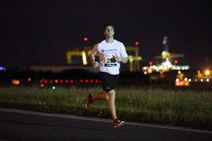 Press Eye - Belfast -  Northern Ireland - 24th June 2015 - Craig Truesdale takes part in the first ever Grant Thornton Runway Run at Belfast City Airport this evening. Picture by Kelvin Boyes / Press Eye.