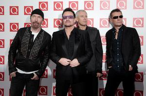 File photo dated 29/12/13 of (left to right) The Edge, Bono, Adam Clayton and Larry Mullen Jr of U2 as their song 'Ordinary Love' from 'Mandela: Long Walk to Freedom' has been nominated for the best original song Oscar