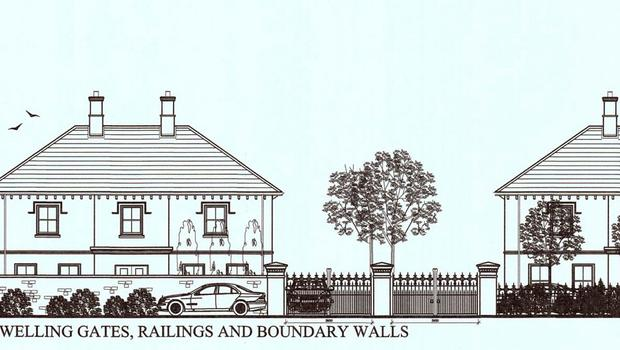 Plans for the new houses on the Greenvale Hotel site.