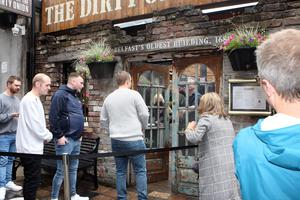 The Dirty Onion opens its door for the first time in months. Pic Freddie Parkinson