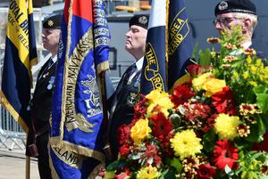 Pacemaker Press 31/5/2016 The commemoration takes  place at HMS Caroline on the centenary of the Battle of Jutland, as Belfast hosts a special all-island commemoration for Irish sailors who died in World War One. Pic Colm Lenaghan/Pacemaker