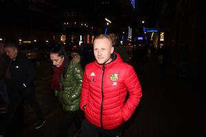 Mandatory Credit - Picture by Freddie Parkinson © Friday 6 December 2019 Loyalist rally held in the Ulster Hall tonight in opposition to Boris Johnson's Brexit withdrawal deal. Jamie Bryson arrives at the Ulster Hall.