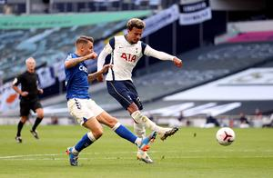 Dele Alli had one of Tottenham's better efforts on goal (Catherine Ivill/PA)