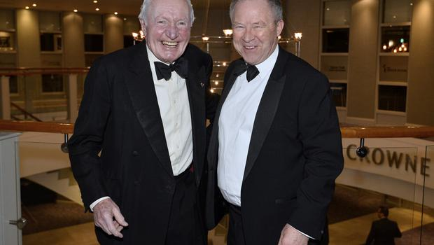 Press Eye - Belfast - Northern Ireland - 20th January  2020  Paddy Hopkirk and Bobby Willis pictured at the 2019 Belfast Telegraph Sport Awards at the Crowne Plaza Hotel in Belfast. Photo by Stephen Hamilton / Press Eye.