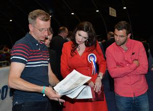 Emma Little-Pengelly, DUP at Titanic exhibition Centre in Belfast. The process of counting votes in the Northern Ireland Assembly election has begun. Two hundred and seventy-six candidates are competing for 108 seats across Northern Ireland's 18 constituencies.  Pic Colm Lenaghan/Pacemaker