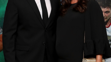 Keith Earls with wife Edel