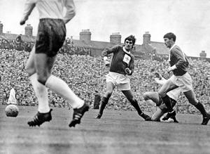 FOOTBALL: GEORGE BEST. Football legend George Best, during the Northern Ireland v England match in October 1966.