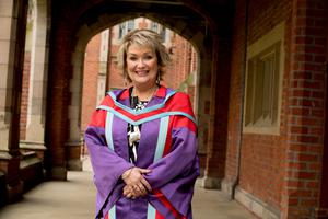 Sylvia Gourley, who is graduating with a Doctorate in Theology from the Institute of Theology at Queen's University Belfast.