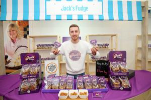 Press Eye - Belfast - Northern Ireland - 15th May 2019  First day of the Balmoral Show, in partnership with Ulster Bank.  Pictured at Balmoral Park, outside Lisburn, is Jack Morton with his Jack's Fudge business.  Ulster Bank has provided space in its market at Balmoral Show to entrepreneurs from Ulster Bank's Entrepreneur Accelerator programme as well as small business customers.    Picture by Jonathan Porter/PressEye