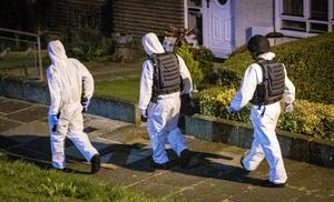 Police and ATO search a property in Belfast on August 7 2020 (Photo by Kevin Scott for Belfast Telegraph)