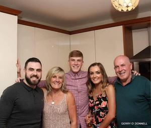 Aodhan (centre) with brother Sean, Mum Moira, Dad Gerry, sister Ciara.