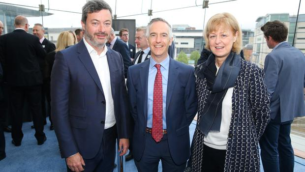 At the official launch of the Belfast Telegraph Top 100 Companies, in association with Arthur Cox, are: Peter Boyle, Argento, Gerry McDermott, Kingspan Environmental, and Caroline Whiteside, Ulster Carpets.