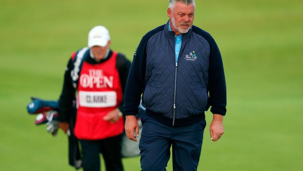 Northern Ireland's Darren Clarke during day one of The Open Championship 2019 at Royal Portrush Golf Club. PRESS ASSOCIATION Photo. Picture date: Thursday July 18, 2019. See PA story GOLF Open. Photo credit should read: David Davies/PA Wire. RESTRICTIONS: Editorial use only. No commercial use. Still image use only. The Open Championship logo and clear link to The Open website (TheOpen.com) to be included on website publishing.