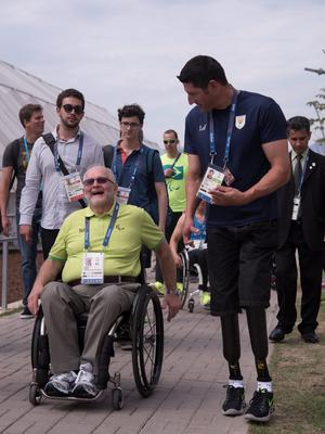 RIO DE JANEIRO, BRAZIL - SEPTEMBER 06: Sir Philip Craven, IPC President at the Paralympic Village on September 5, 2016 in Rio de Janeiro, Brazil. (Photo by Raphael Dias/Getty Images for the International Paralympic Committee)