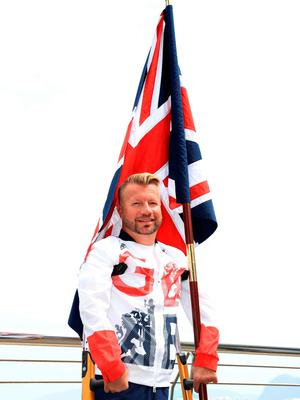 Lee Pearson during the ParalympicsGB Flagbearer announcement ahead of the 2016 Rio Paralympic Games, Brazil. PRESS ASSOCIATION Photo. Picture date: Tuesday September 6, 2016. Photo credit should read: Adam Davy/PA Wire. EDITORIAL USE ONLY