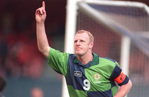 Iain Dowie during his playing days with Northern Ireland