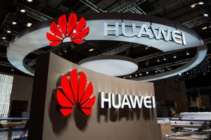 Logos of Chinese electronics giant Huawei are pictured at the company's booth ahead of the opening of the 55th IFA (Internationale Funkausstellung), on September 2, 2015 in Berlin. IFA, one of the world's biggest consumer electronics shows, opens for the media before the public is invited from September 4 to 9. AFP PHOTO / JOHN MACDOUGALLJOHN MACDOUGALL/AFP/Getty Images