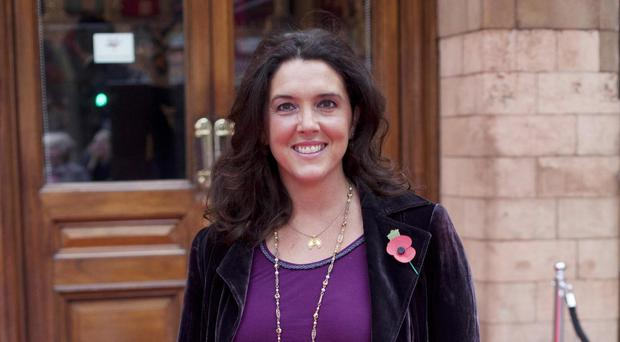 Bettany Hughes arrives at the English Heritage Angel Awards, at the Palace Theatre, London (David Parry/PA)