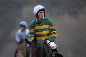 Tony McCoy on Well Hello There, following the fifth race, The Smith and Williamson Handicap Steeple Chase, at Exeter Racecourse, Exeter. PRESS ASSOCIATION Photo. Picture date: Tuesday November 5, 2013. See PA Story RACING Exeter. Photo credit should read: Tim Ireland/PA Wire.