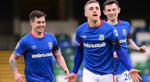 Joel Cooper scored twice against his former club Glenavon and even did enough to entice his manager to change tack.