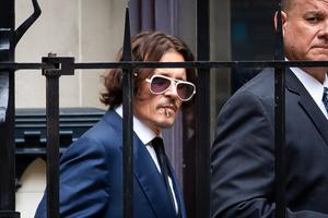 Actor Johnny Depp at the High Court in London (Aaron Chown/PA)