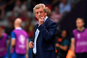 England's coach Roy Hodgson reacts during Euro 2016 round of 16 football match between England and Iceland at the Allianz Riviera stadium in Nice on June 27, 2016.   / AFP PHOTO / PAUL ELLISPAUL ELLIS/AFP/Getty Images