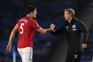 Brighton manager Graham Potter admitted United deserved all three points (Mike Hewitt/NMC Pool/PA)