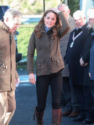 NEWTOWNARDS, NORTHERN IRELAND - FEBRUARY 12: Catherine, Duchess of Cambridge arrives at The Ark Open Farm on February 12, 2020 in Newtownards, Northern Ireland. This visit is part of her Early Years Foundation Survey. Five Big Questions, aiming to spark a UK-wide conversation on early childhood. (Photo by Chris Jackson/Getty Images)