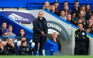 "Manchester United manager Jose Mourinho gestures on the touchline during the Premier League match at Stamford Bridge, London. PRESS ASSOCIATION Photo. Picture date: Sunday October 23, 2016. See PA story SOCCER Chelsea. Photo credit should read: John Walton/PA Wire. RESTRICTIONS: EDITORIAL USE ONLY No use with unauthorised audio, video, data, fixture lists, club/league logos or ""live"" services. Online in-match use limited to 75 images, no video emulation. No use in betting, games or single club/league/player publications."