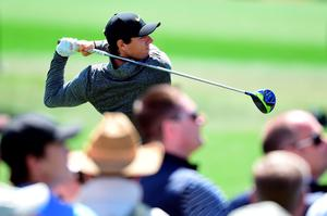 AUGUSTA, GEORGIA - APRIL 07:  Rory McIlroy of Northern Ireland plays his shot from the third tee during the first round of the 2016 Masters Tournament at Augusta National Golf Club on April 7, 2016 in Augusta, Georgia.  (Photo by Harry How/Getty Images)