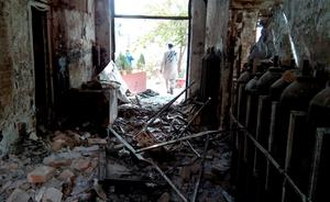 The damaged interior of the hospital in which the Medecins Sans Frontieres (MSF) medical charity operated is seen on October 13, 2015 following an air strike in the northern city of Kunduz. Thirty-three people are still missing days after a US air strike on an Afghan hospital, the medical charity has warned, sparking fears the death toll could rise significantly. AFP PHOTOSTR/AFP/Getty Images