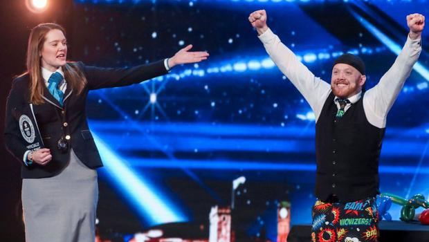 Ryan Tracey has equalled a Guinness World Record on Britain's Got Talent. (ITV)