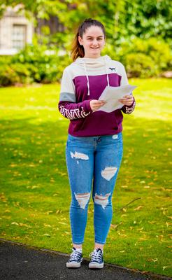Anna Arthurs receives A-Level results at St Dominic's Grammar School for Girls on August 17th 2017 (Photo by Kevin Scott / Belfast Telegraph)