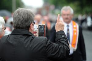 The 12th Of July Parade in Broughashane, Ballymena. Presseye Declan Roughan  Damp weather did not dampen spirits at the The 12th of July Parade in Broughashane, Ballymena.