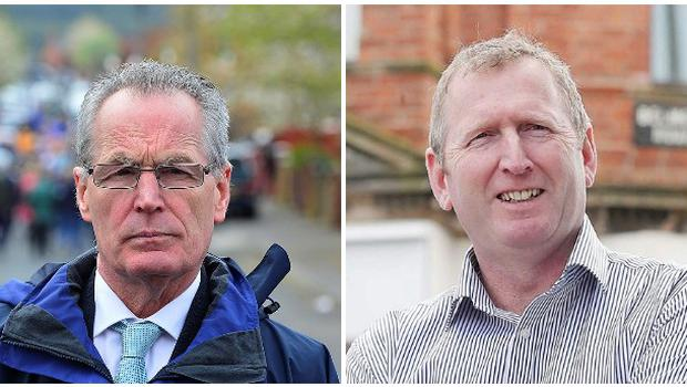 War of words: Doug Beattie (right) has hit out at Gerry Kelly's (left) comments.
