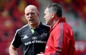 Taking stock: Paul O'Connell and Munster boss Anthony Foley prepare for the clash against Ulster at the Kingspan Stadium