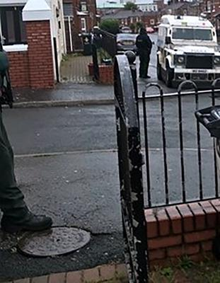 The PSNI conducted 5 searches in Belfast.