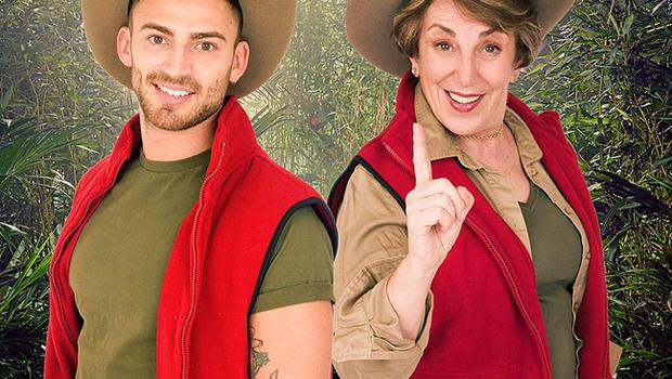 Jake Quickenden and former MP Edwina Currie, who are in I'm A Celebrity ... Get Me Out Of Here!