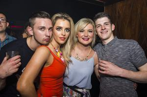 Ollies Monopollie Mondays pictured Jordan Gormley, Louise Donnelly, Gemma Kelly and Ben Price