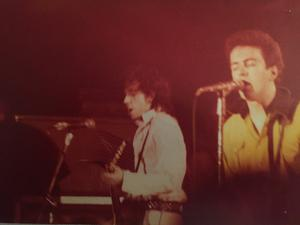 A picture of The Clash performing at Dunfermline Kinema in 1978 (@hughjeers/PA)